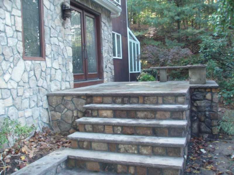 Side Entrance Stone Steps Design – Millenium Stoneworks | House Entrance Steps Designs | Front Yard Stair | Semi Circle | Front Porch | Residential | Half Round
