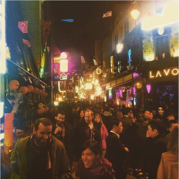 busy street korea
