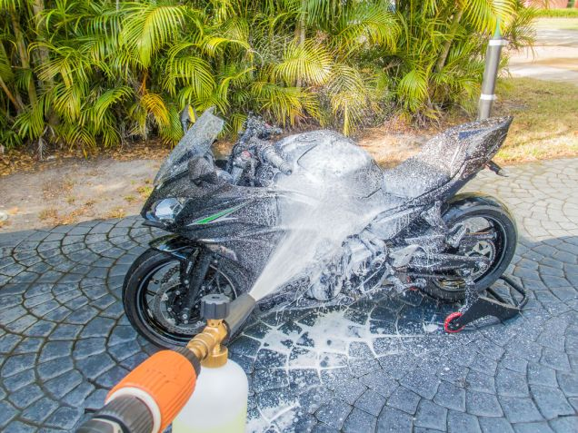 The first step would be to clean the chain. You might as well wash the whole bike while you're at it.