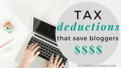 tax deductions for bloggers and small business owners
