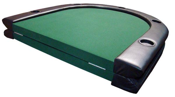 Foldable Poker Table 84in With Cup Holders U0026 Foldable Legs