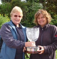 Barbara Wancke presents the 2012 Millennium Cup honours to Wigmore's Sharon Gould