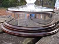 The Millennium Cup trophy silver plinth, witness to neighbourhood rivalries