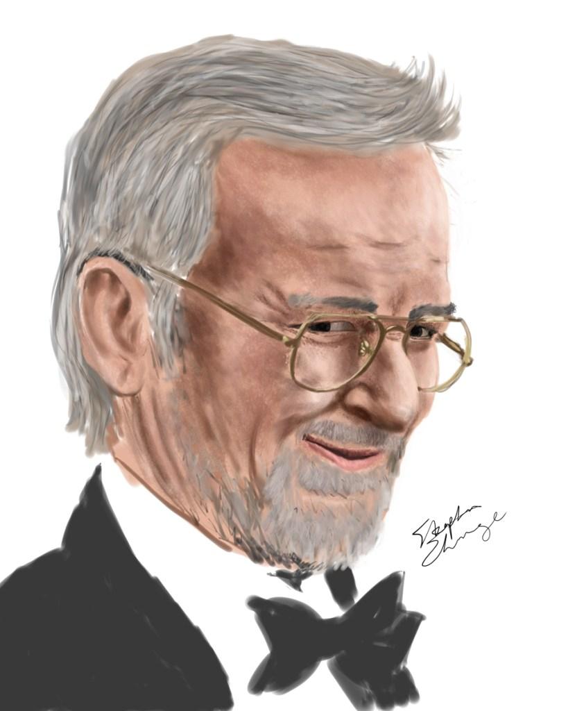 Steven Spielberg Portrait, work in progress