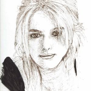 Keira Knightley Ink Portrait