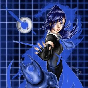 Anima Blue Original Character Illustration 8.5″ x 11″ Glossy Print