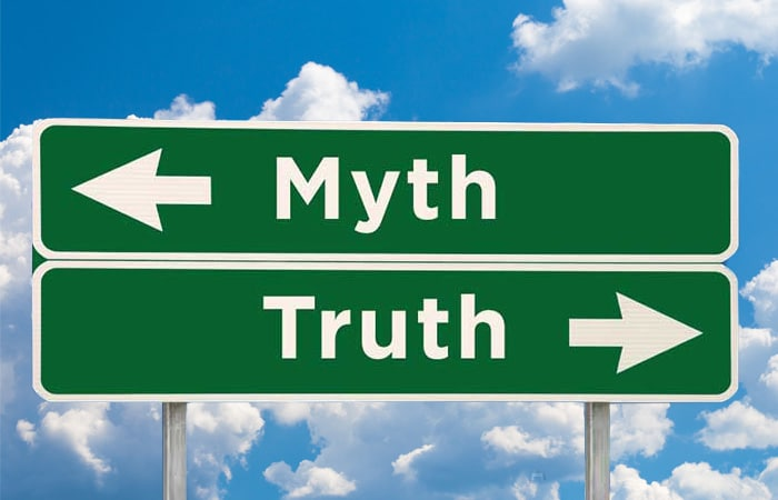 myth and truth road signs