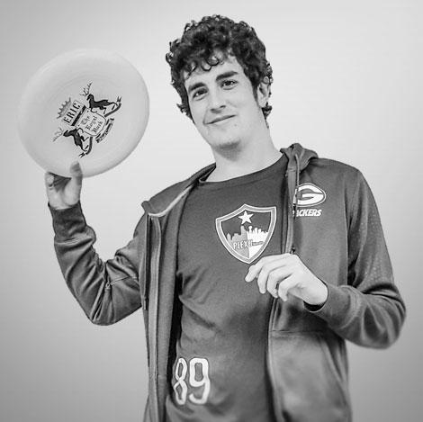 Jack Wooldridge with a frisbee
