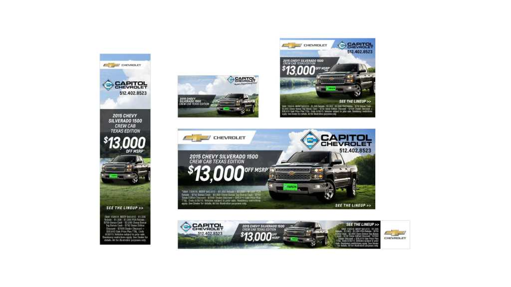 Capitol Chevrolet Web Banners
