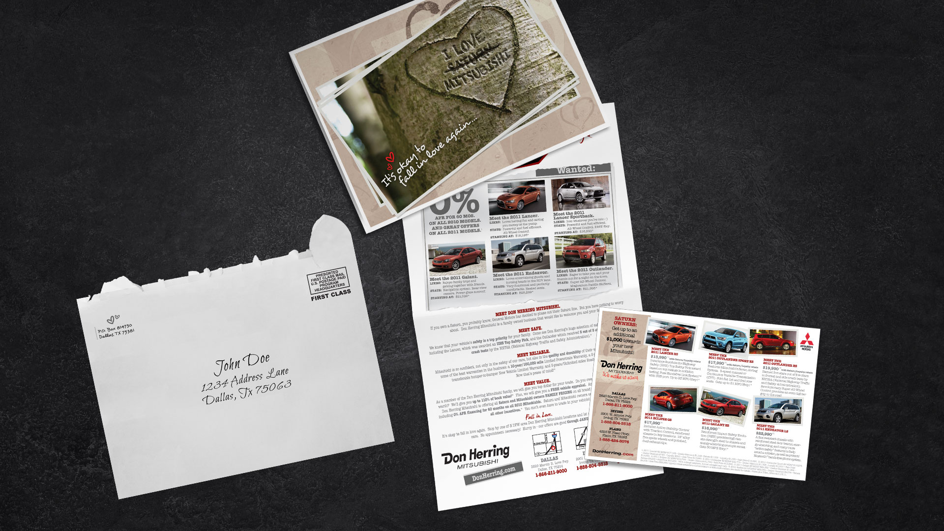 Direct Mail: Don Herring Mitsubishi Fall in Love Again