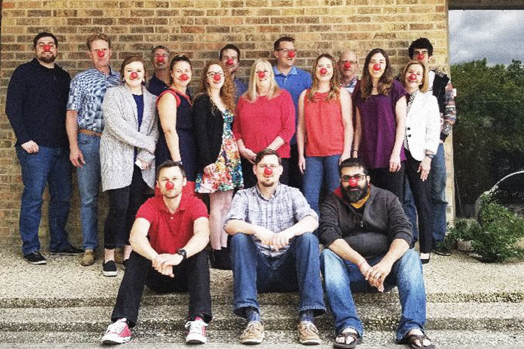 Miller team supporting Red Nose Day