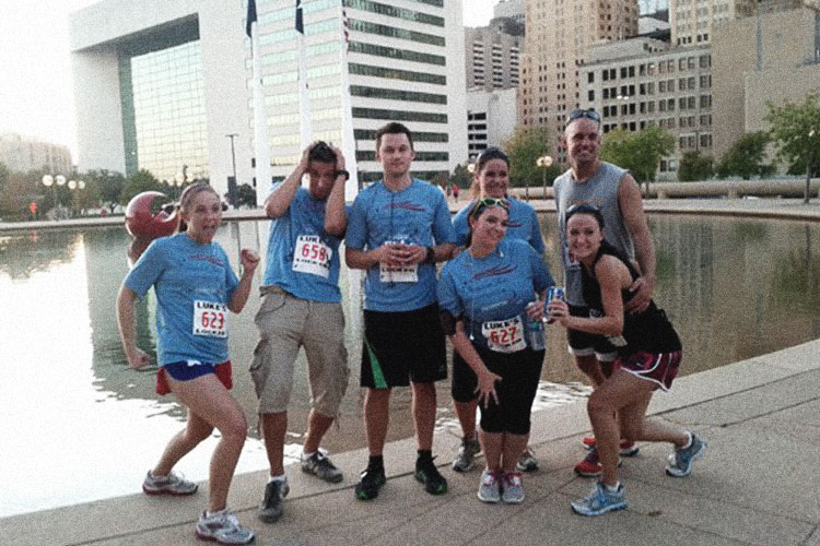 Miller team running 5k in downtown dallas