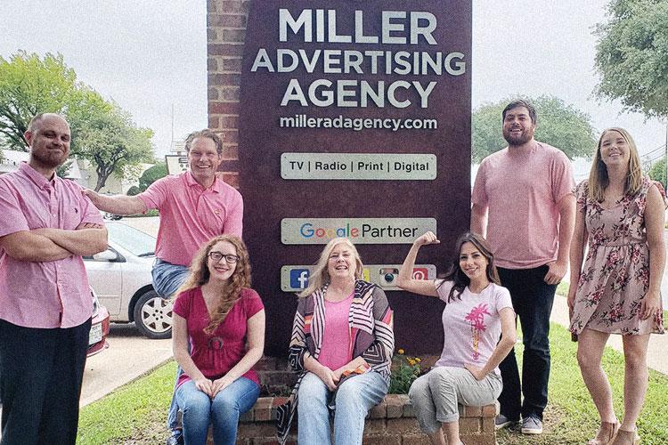 Miller team wearing pink