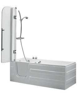 baignoire à porte
