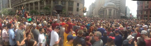 Cavs Win Finals Parade through downtown Cleveland