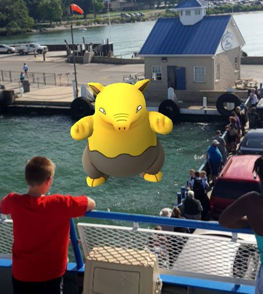 Catch a Pokemon Go on your way to Put-in-Bay aboard the Miller Ferry from Catawba