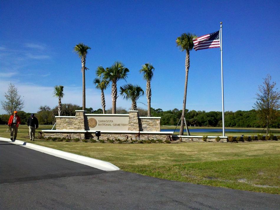 VA Sarasota National Cemetery Entryway