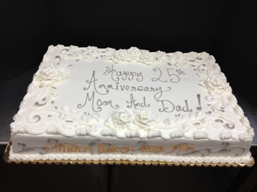 Custom Anniversary Amp Engagement Cakes Millers Bakery