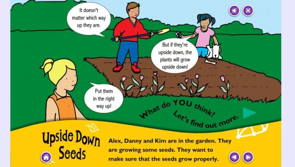 Science Questions - Concept Cartoons for KS1 - upside down seeds