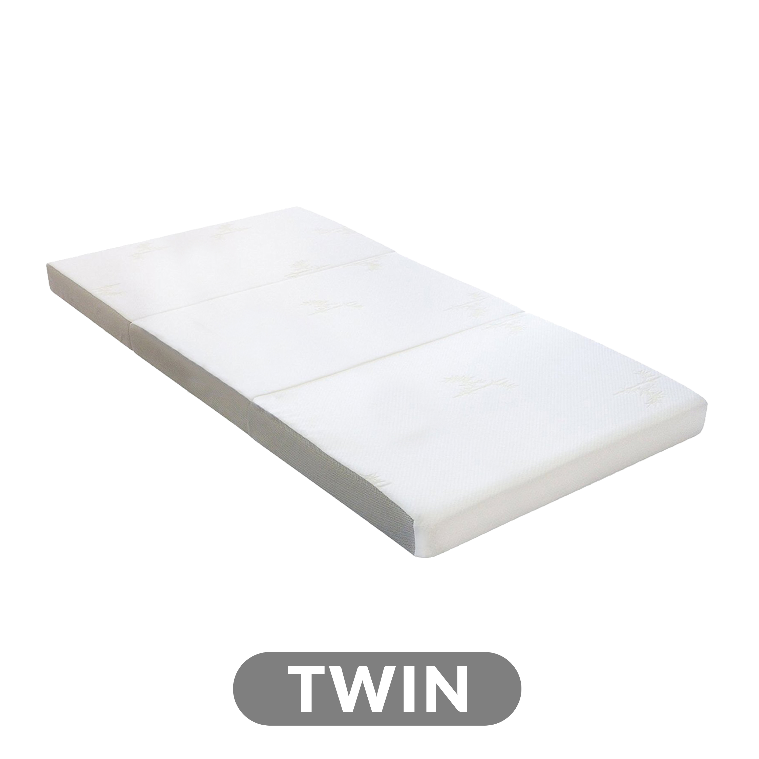 4 Tri Fold Foam Mattress With Cover Twin Milliard Bedding The Ultimate Sleep Experience