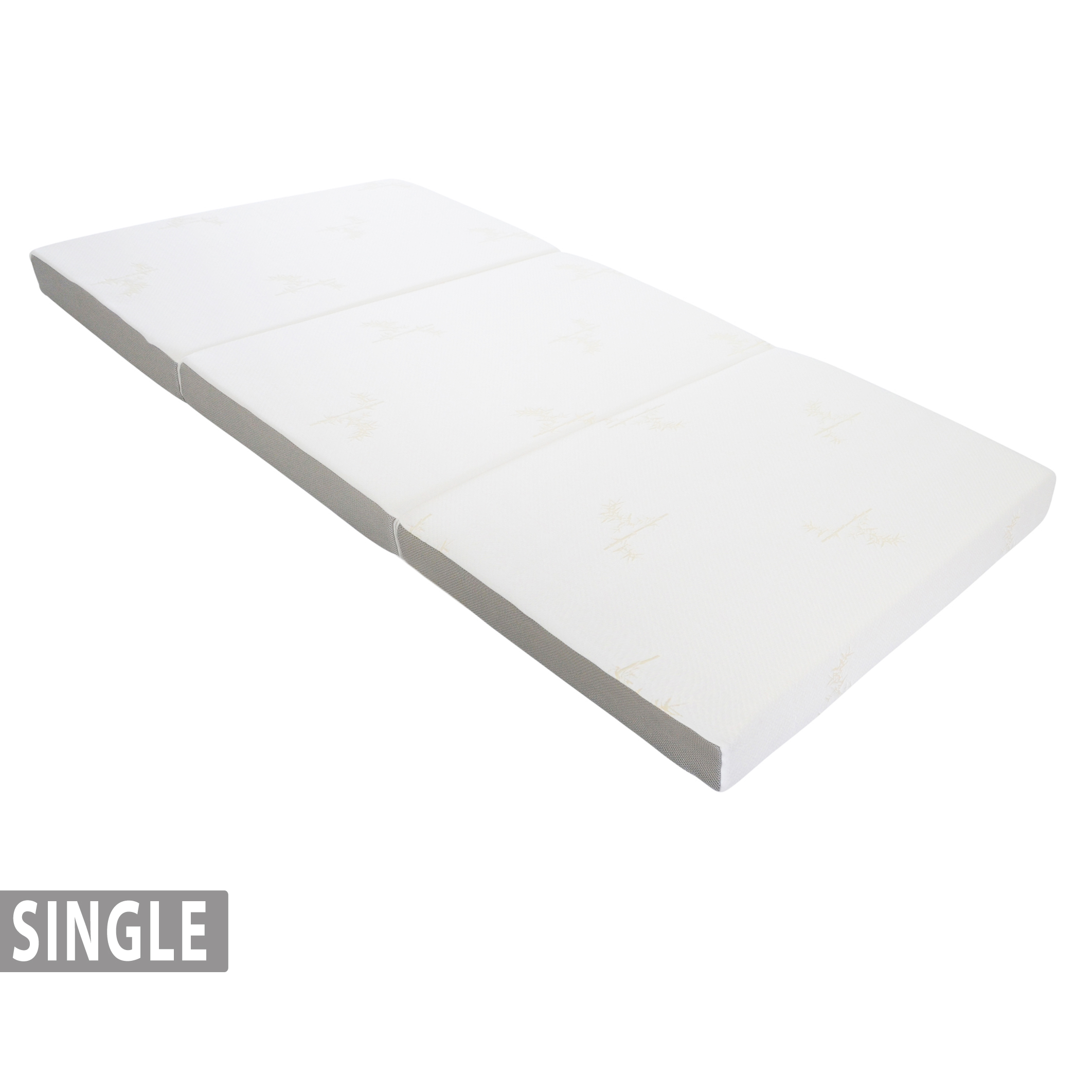 4 Tri Fold Foam Mattress With Cover Single 75 X 25 Milliard Bedding The Ultimate Sleep Experience