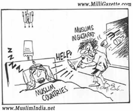 Most Indian Muslims can see that religious freedom in India exceeds that of even Muslim countries. (Cartoon courtesy-www.koothanallurmuslims.com). Click for larger image.