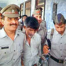 Imrana's father-in-law being arrested by the police