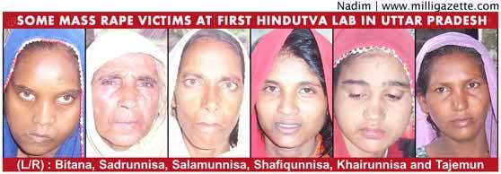 some mass rape victims at is first Hindutva lab in Uttar pradesh