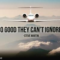 Be so good they can't ignore you. - Steve Martin