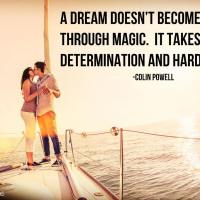 A dream doesn't become reality through magic. It takes sweat, determination and hard work. - Colin Powell