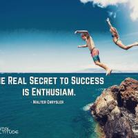 The real secret to success is enthusiasm. - Walter Chrysler