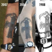 "Axl Rose's ""Appetite for Destruction"" tattoo"