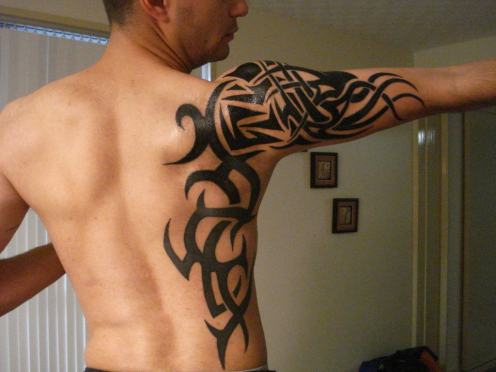 This is a pretty impressive tribal tattoo