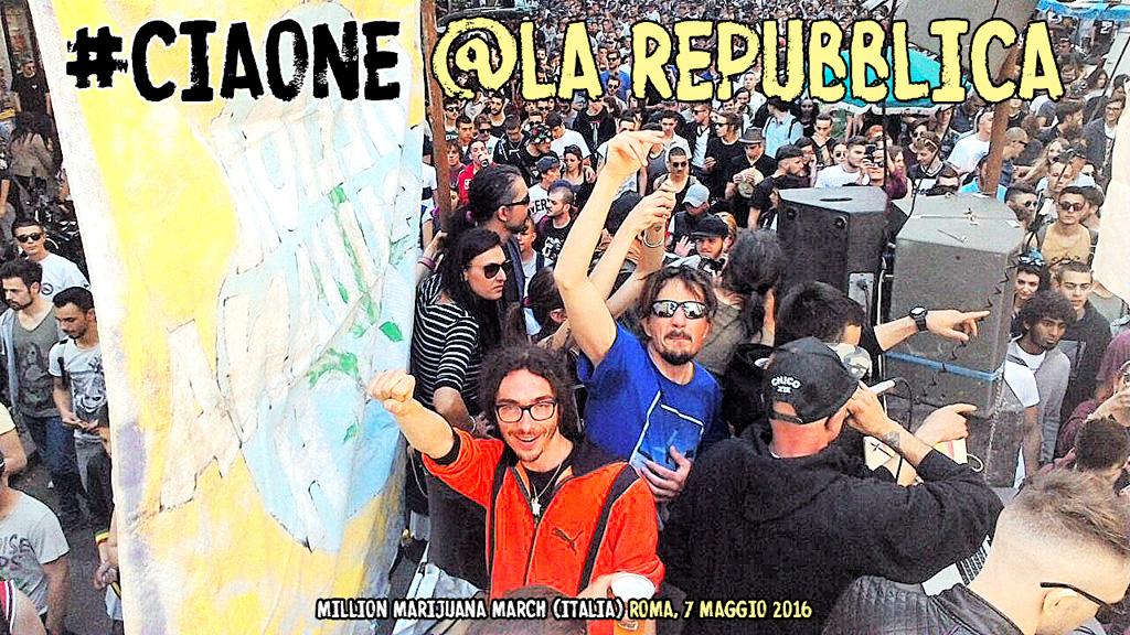 """Million Marijuana March 2016 #CIAONE a """"la Repubblica"""""""