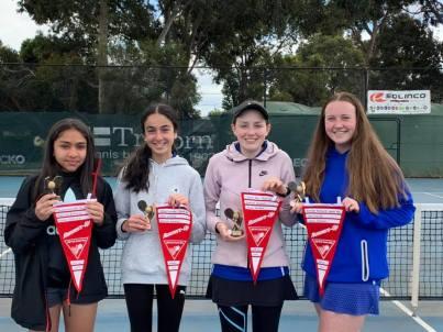 Mill Park Tennis Club   Girls Section 3 NEJTA Spring 2019