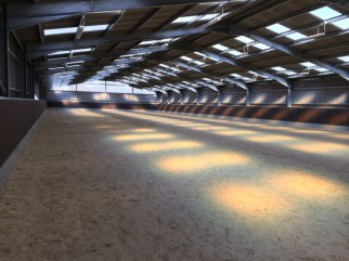 The new indoor arena is completed!