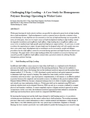 Research_H - WGB - Challenging Edge loading - A Case Study in Polymer Bearings