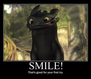 Go on, smile!