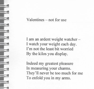 Valentines - not for use poem from Moss to Milly Rich