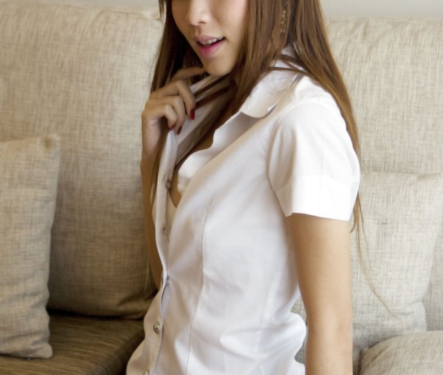 Sexy Cute Thai Girl With Her Student Uniform