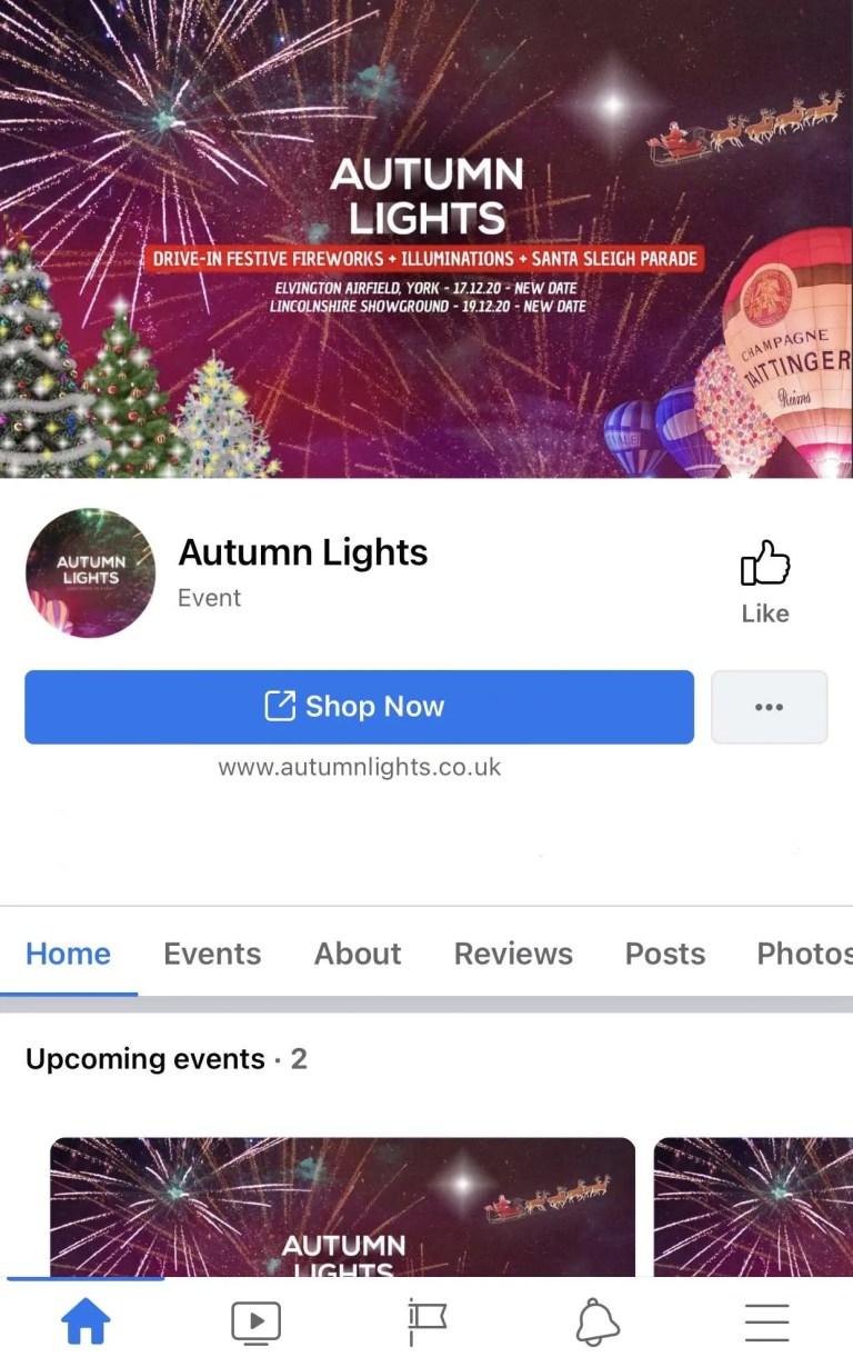 Autumn Lights social media by milnerCreative