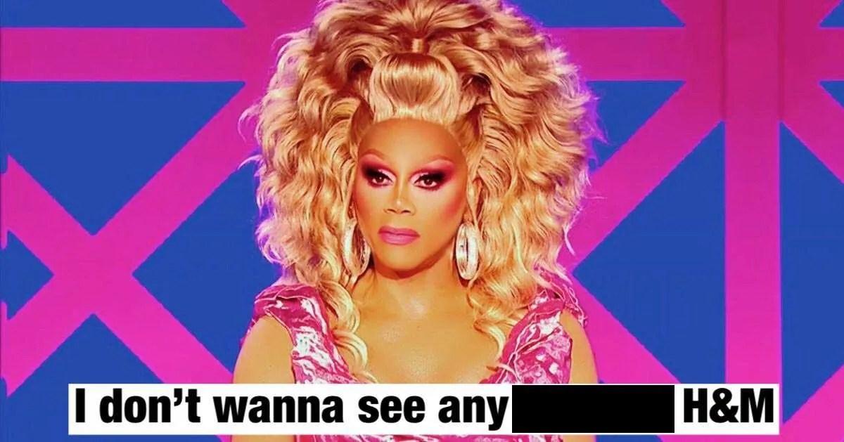 RuPaul Drag Race H&M brandInspired