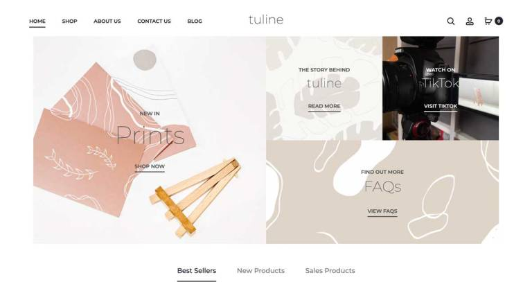 tuline website milnerCreative