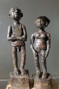 CANICULE / bronze 2/8 / (53 x 30 x 30 cm) / 4000€ (le couple)