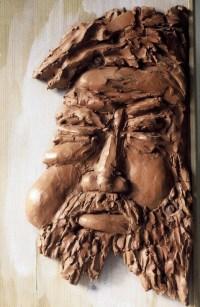 GARGANTUA / Tableau masculins (1993) / terre cuite sur planche / (60 x 40 x 5 cm) / 500€ - 500€