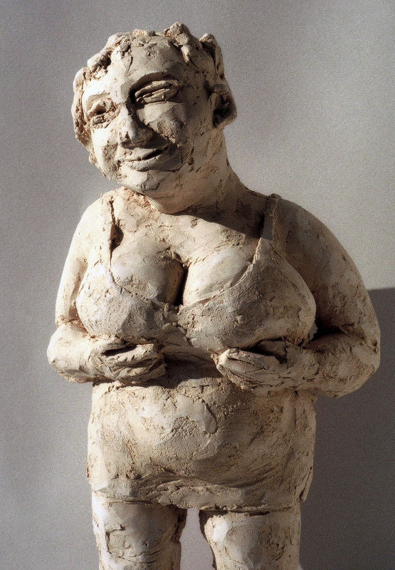 Men prefer rounds. Woman with big breasts. Plump and sexy. Opulent chest.