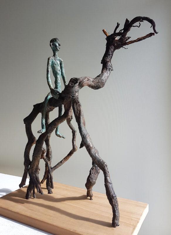 Art Singulier, techniques mixtes, bronze africain