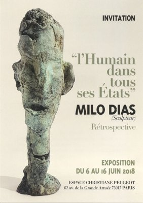 Exposition d'art contemporain, centre Christiane Peugeot, l'humain dans tous ses étatsMilo Dias - L'humain dans tous ses États