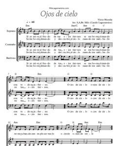 Partitura en pdf para coro de Ojos de cielo - Partituras gratuitas para coro argentina