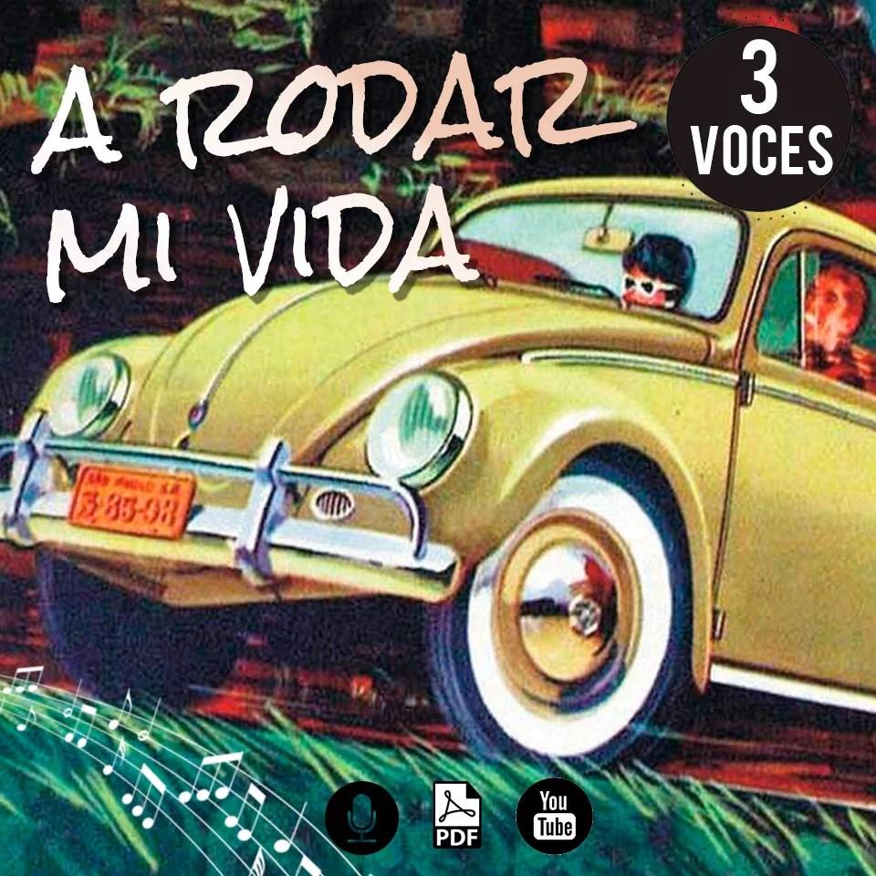 Partitura coral de Fito Páez a rodar mi vida a 3 voces gratis pdf arreglo coral por www.MiloLagomarsino.com